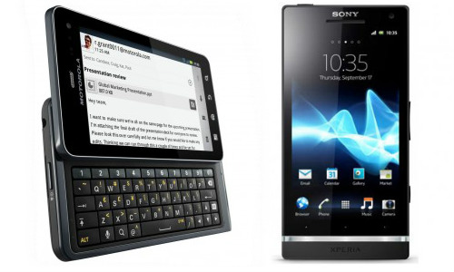 मोटोरोला ड्रॉएड 4 और सोनी एक्पीरिया एस में कौन है बेहतर स्मार्टफोन