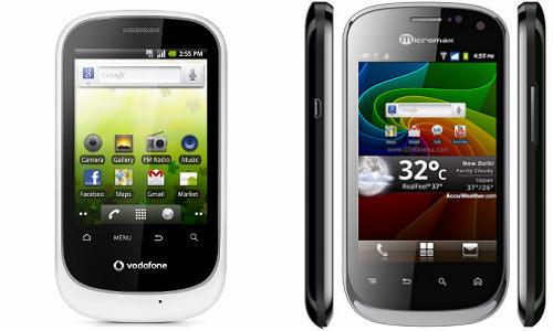 जल्द लांच होगा एंड्राएड ओएस से लैस वोडाफोन स्मार्ट और माईक्रोमैक्स