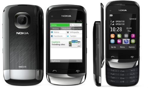 नोकिया C2-06 टच एंड टाइप बजट फोन