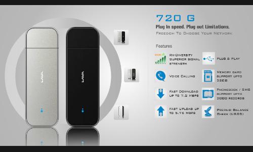 लावा ने लांच किया 7.2 एमबीपीएस स्पीड नेट डोंगल