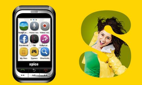 स्पाइस M-5460 ड्युल सिम टच स्क्रीन फोन