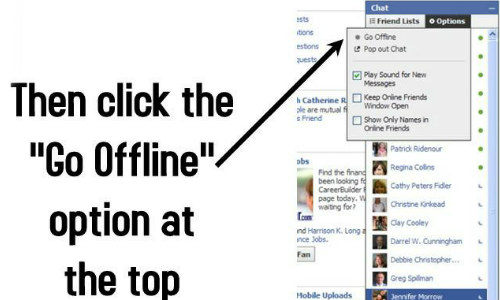 फेसबुक में ऑफलाइन होकर कैसे करें चैटिंग