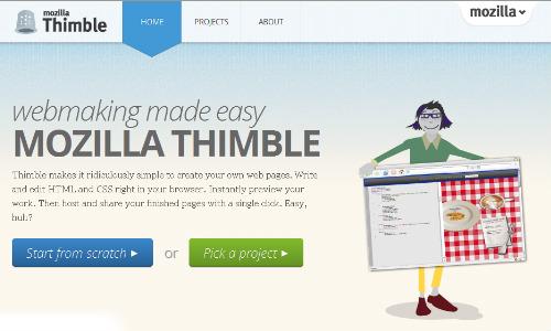 मोजिला ने लांच किया वेबसाइट डिजाइन टूल थिंबल