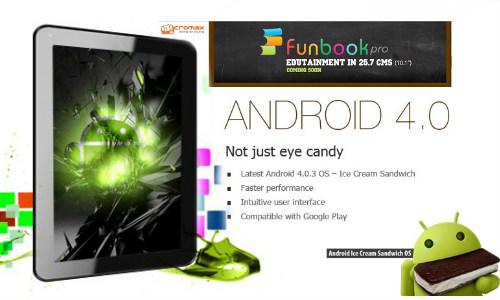 6,500 रुपए में ले आइए आईसीएस एंड्रॉएड टैबलेट फनबुक प्रो