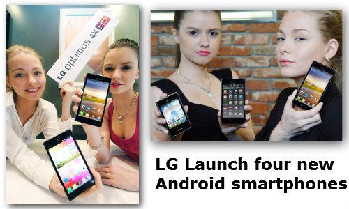 एलजी ने भारतीय बाजार में लांच किए चार नए ऑप्टिमस एंड्रॉएड स्मार्टफोन