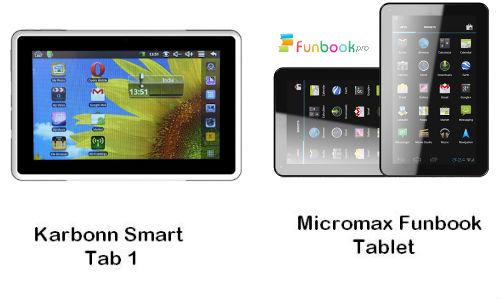 माइक्रोमैक्स फनबुक प्रो और कार्बन टैब 2 में कौन सा टैबलेट है ज्यादा बेहतर
