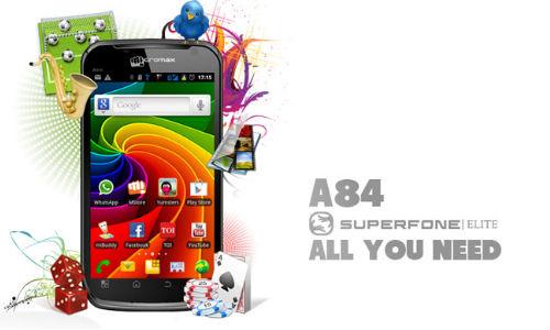 9,999 रुपए में माइक्रोमैक्स ने लांच किया ए84 ईलाइट स्मार्टफोन