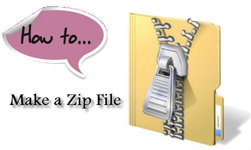 जिप और कंप्रेस्ड फाइल कैसे बनाएं