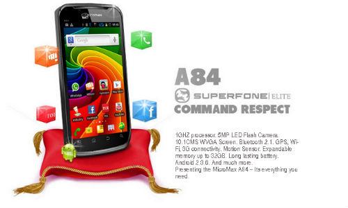 माइक्रोमैक्स ए84 एंड्रॉएड स्मार्टफोन में दिए गए 5 बेहतरीन फीचर