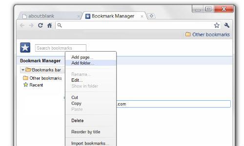 अपने ब्राउजर टूलबार में कैसे बनाएं बुकमार्क फोल्डर