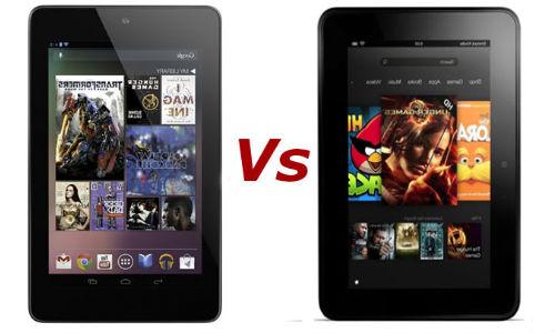 गूगल नेक्सस 7 और अमेजन किंडल फायर एचडी टैबलेट में किसको चुनेंगे आप?