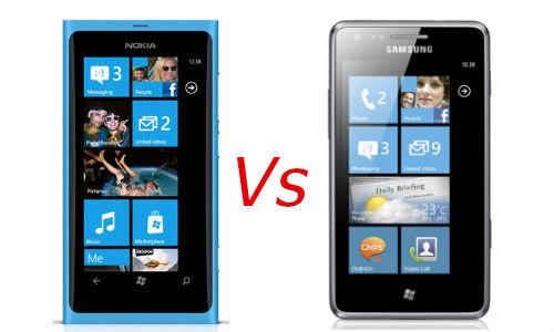 नोकिया ल्यूमिया 800 और सैमसंग ओमनिया एम में से कौन सा विंडो फोन बेहतर है?