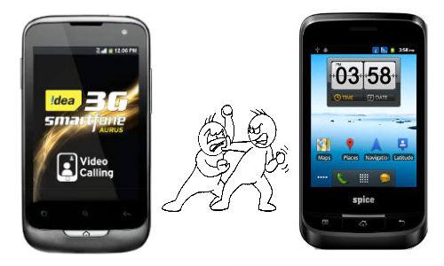 7,190 रुपए का आईडिया आरुस और 4,899 रुपए का स्पाइस एमआई 320, कौन है बेहतर?