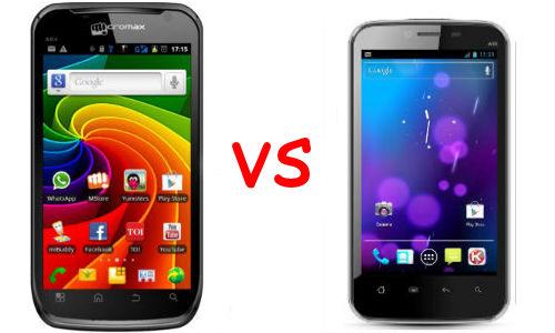 माइक्रोमैक्स कैनवास ए100 और कार्बन ए18 ड्युल सिम स्मार्टफोन में कौन है बेहतर?