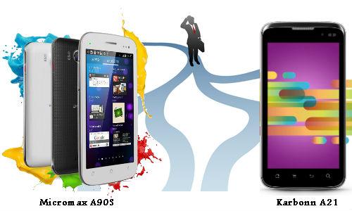 कार्बन ए21 और माइक्रोमैक्स ए905 सुपरफोन पिक्सल में से कौन सा स्मार्टफोन लेंगे आप?