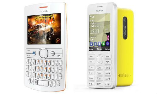 नोकिया ने लांच किए 3,500 रुपए में दो नए आशा 205 और 206 फीचर फोन