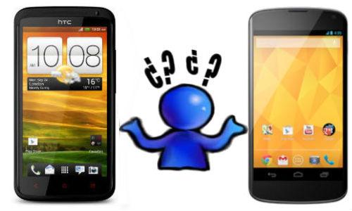 एचटीसी वन एक्स और एलजी नेक्सस 4 जैली स्मार्टफोन में कौन है बेहतर