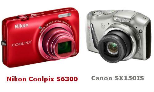 कैनन पॉवरशॉट SX150IS और निकॉन कूल पिक्स S6300 में से कौन सा कैमरा लूं?