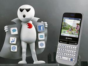 आ गया वोडाफोन का फेसबुक मोबाइल ब्लू 555