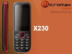 कम कीमत का फीचर फोन है माइक्रोमैक्स एक्स230