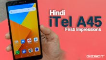 iTel A45 First impresions