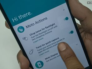 How to use Moto actions in Motorola One Power