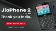 20 सितंबर को होगी Jio Phone 2 की फ्लैश सेल, WhatsApp की भी होगी शुरुआत