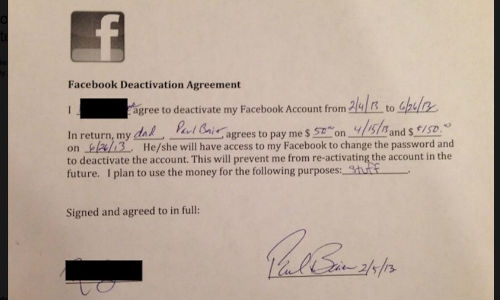 5 महिने फेसबुक न प्रयोग करने के बदले दिए 10,743 रुपए