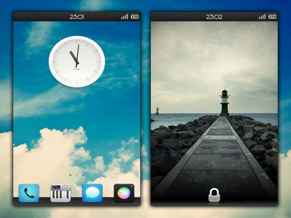 Android home screens