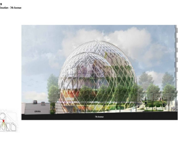 AmazonGlass Dome Headquarters In Seattle