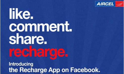 एयरसेल ने लांच की नई एप्प, फेसबुक फैनपेज से रीचार्ज करें फोन
