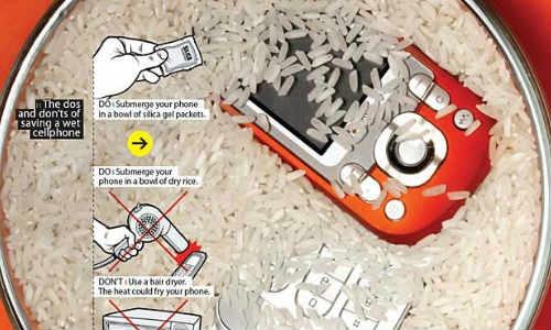 गीले मोबाइल को कैसे सुखाएं
