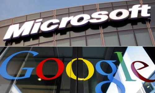 माइक्रोसॉफ्ट ने मिलाया गूगल से हाथ, मिलकर लड़ेंगे सरकार से