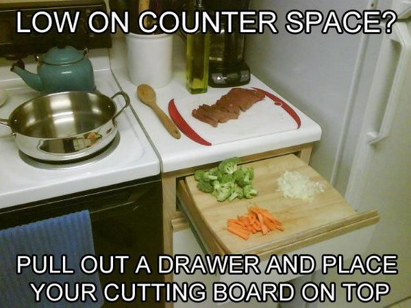 create more counter space life hack