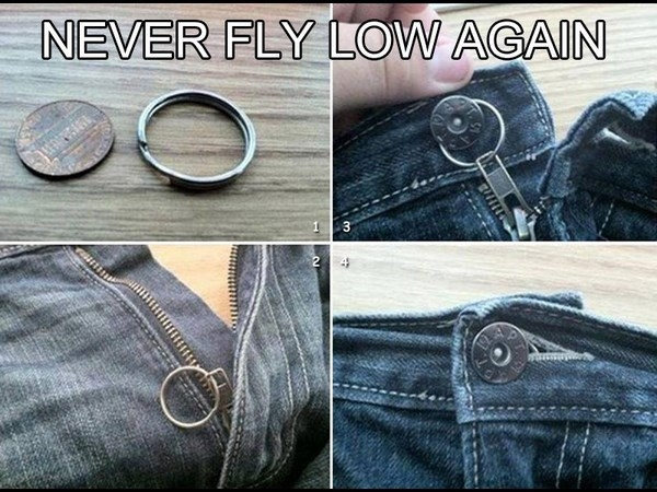 never fly low again life hack
