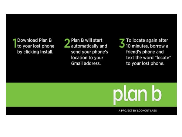 Plan B, Lookout mobile security