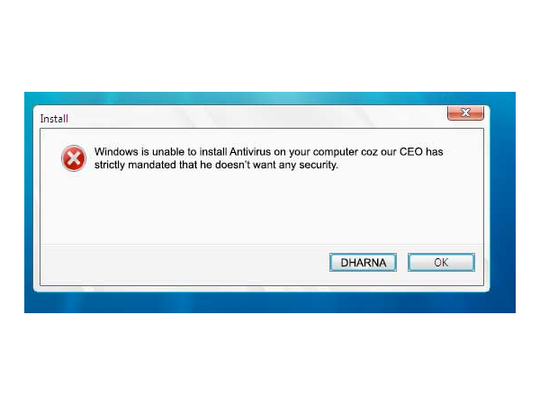 Windows won't let you install Antivirus