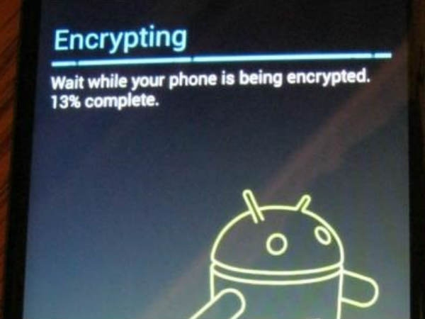 Encrypt your device