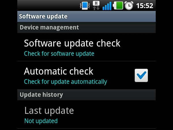 Keep your device software up to date
