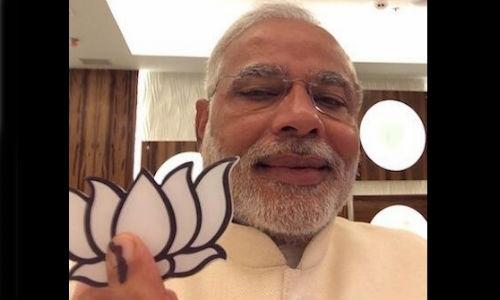 ट्विटर पर नरेंद्र मोदी की सेल्फी ने किया कमाल