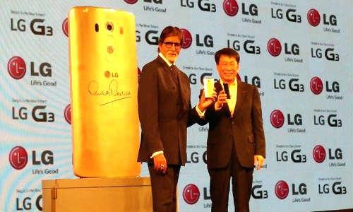 अमिताभ बच्चन ने लांच किया एलजी का G-3 स्मार्टफोन