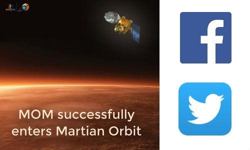 मंगलयान की उपलब्धि पर फेसबुक, ट्विटर पर बधाईयों की बौछार