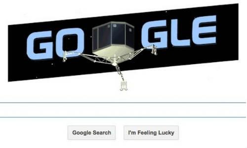 गूगल ने रोसेटा की कामयाबी के लिए निकाला डूडल