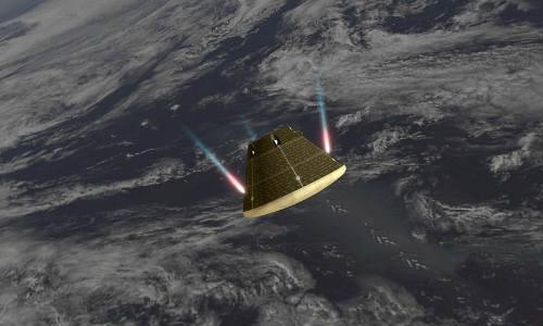 नासा के ड्रोन ने ओरियन की तस्वीरें खींची