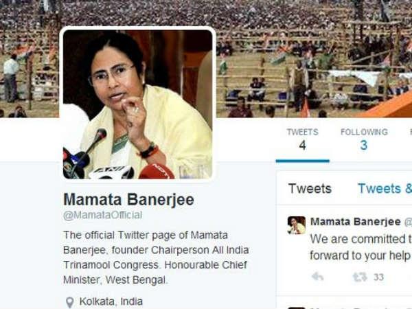 ममता बनर्जी ने ट्विटर पर खोला अपना खाता