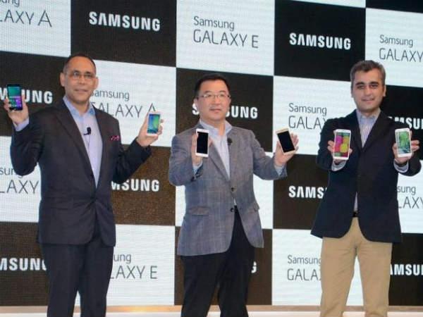 सैमसंग के 4 नए स्मार्टफोन, गैलेक्सी ए3, ए5, ई5 और ई7