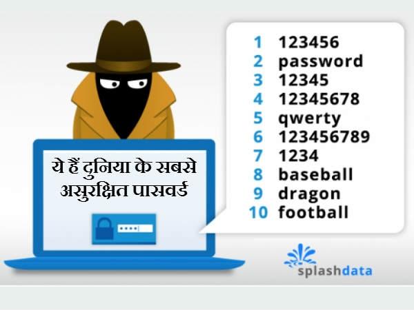 कभी भूल कर मत रखिएगा ये 25 पासवर्ड