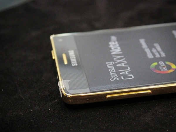 Gold plated Samsung Galaxy Note Edge