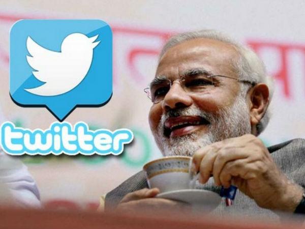 ट्विटर पर विश्व नेताओं में तीसरे स्थान पर मोदी