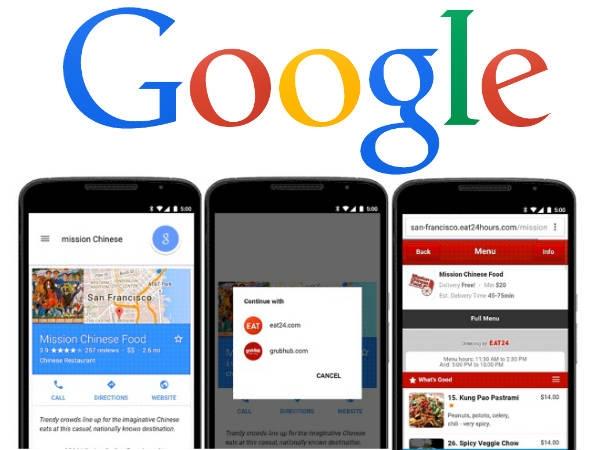 गूगल करेगा आपके खाने की डिलीवरी
